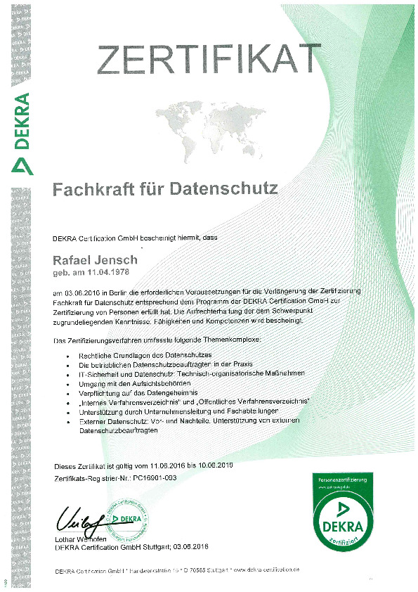 Datenschutz 2016